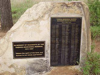 Taroom Aboriginal Settlement - Memorial to the deceased, 2010