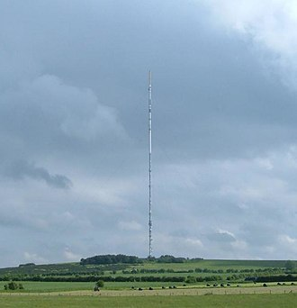 Mendip transmitting station - Image: Mendipmastjune 2005