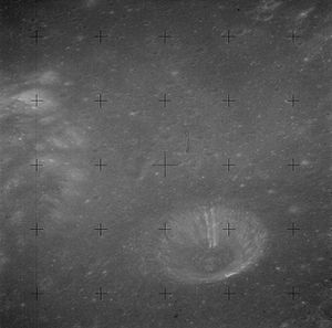 Menelaus (crater) - Menelaus A crater (lower right), from Apollo 15