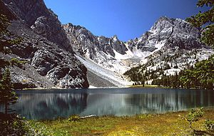 Lost River Range - Merriam Lake, Idaho, in the Lost River Range.