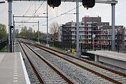 Overgang naar enkel spoor naar Sliedrecht Baanhoek.