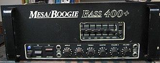 Mesa Boogie - Image: Mesaboogie bass 400plus front
