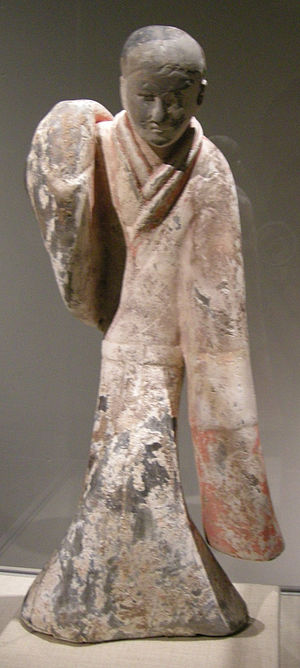 Feast at Hong Gate - A Western Han female dancer in silk robes, 2nd century BC, Metropolitan Museum of Art