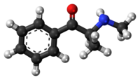 Methcathinone molecule ball.png