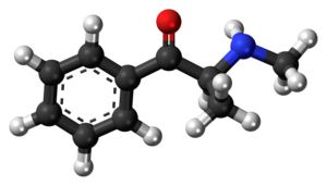 Methcathinone - Image: Methcathinone molecule ball