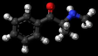 Methcathinone - Image: Methcathinone molecule ball