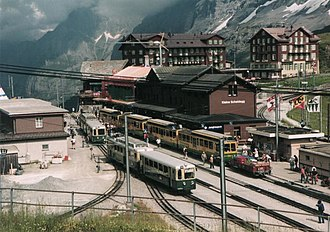 Wengernalp Railway - Station at Kleine Scheidegg