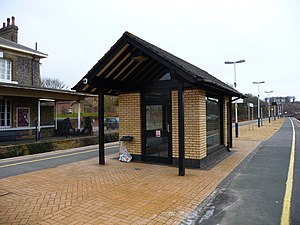 Micheldever railway station - Image: Micheldever Station Waiting Room geograph.org.uk 1253213