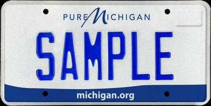 Michigan license plate 2012