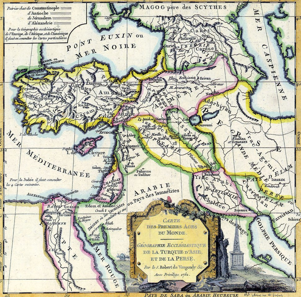 Middle East by Robert de Vaugondy