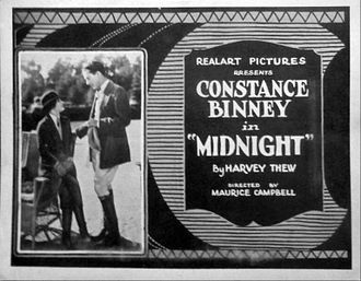 Midnight (1922 film) - Lobby card