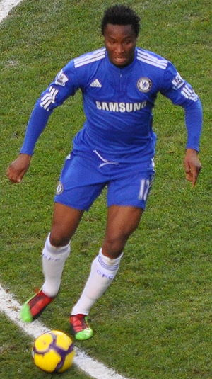 John Obi Mikel - Mikel playing for Chelsea against Fulham on 28 December 2009.
