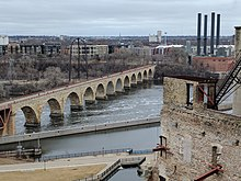Mill City Museum 20 view of Stone Arch bridge.jpg