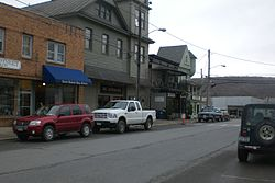 Business District in Millerton.