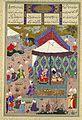 Mir Musavvir, The Marriage of Sudaba and Kai Kavus, Folio 130r from the Shahnama (Book of Kings) of Shah Tahmasp 1525-30.jpg