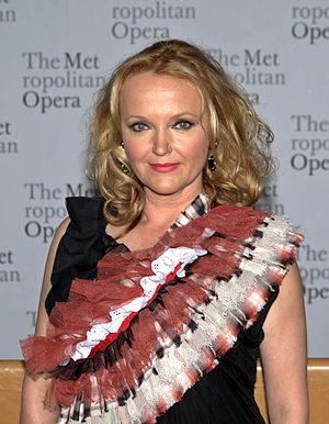 Miranda Richardson - Richardson at the Metropolitan Opera's 2010 opening night of Das Rheingold