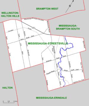 Mississauga—Streetsville - Map of Mississauga-Streetsville