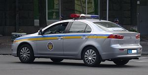 Mitsubishi Lancer Eighth Generation - Police car, Kiev, Ukraine.JPG
