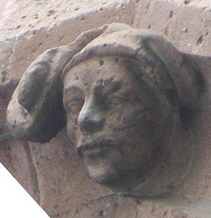 Madern Gerthener - Sculptural self-portrait from the Eschenheim Gate in Frankfurt