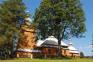 Mochnaczka Niżna Village in Lesser Poland Voivodeship, Poland