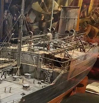 San Demetrio London - Image: Model of MV San Demetrio, on display at IWM 03
