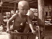 Moken children near Surin Island, Thailand