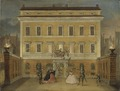 Monkeys Acting in front of the Governor's House, Stockholm (Johan Pasch d.ä.) - Nationalmuseum - 21727.tif