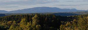Mount Valin - Mount Valin viewed from Saguenay