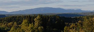 Mount Valin - Mount Valin viewed from Saguenay