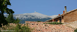 Mont Ventoux over the roofs of Flassan by Rosier.jpg
