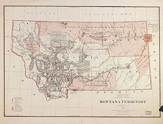 Montana Territory territory of the USA between 1864-1889