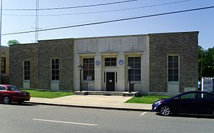 Monticello Post Office - The post office in May 2014
