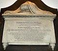 Monument for Thomas Woodrouffe Smith, d 1811 at St Mary's church, Teddington. Lord of the Manor of Teddington.jpg