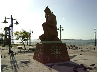 Cataño, Puerto Rico - Monument to Taino Culture in Cataño. It is part of a pedestrian walk which faces the San Juan Bay.
