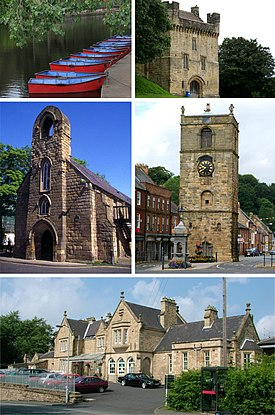 Morpeth montage. Clicking on an image in the picture causes the browser to load the appropriate article.