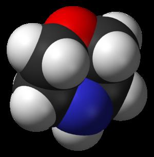 Morpholine - Image: Morpholine from xtal 3D vd W B