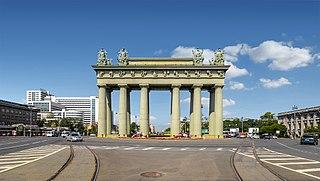 triumphal arch in Saint Petersburg, Russia