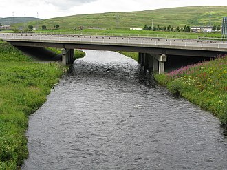 Elvanfoot - Image: Motorway Bridge over the River Clyde geograph.org.uk 946040