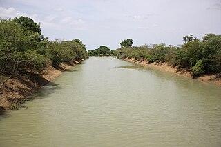 Black Volta river in Burkina Faso, Ivory Coast, and Ghana