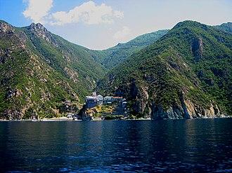 Chalkidiki - Dionysiou Monastery in Mount Athos, a UNESCO World Heritage Site
