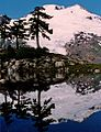 Mount Baker reflected in tarn 1991.jpg