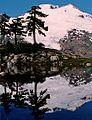 Mount Baker reflected in tarn 1991.jpg