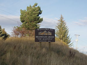 Mountain Green, Utah - Welcome sign