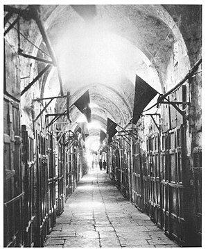 Balfour Day - Image: Mourning on Balfour Day 1929 in the Old City of Jerusalem