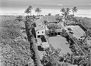 Delray Beach, Florida - Estate at 1755 North Ocean Boulevard, January 26, 1933.