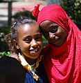 Muslim and Christian Girl outside National Museum of Ethiopia - Addis Ababa - Ethiopia (8744257382).jpg