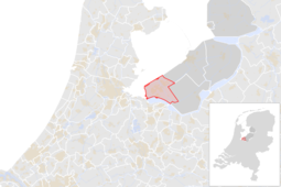 Locatie van de gemeente Almere (gemeentegrenzen CBS 2016)