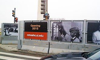 National Museum of African American History and Culture - Construction signs at the future site of the National Museum of African American History and Culture in Washington, D.C.