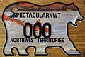 NORTHWEST TERRITORIES 2011 -MOTORCYCLE SOUVENIR SAMPLE PLATE -CANOE IN RAPIDS DESIGN - Flickr - woody1778a.jpg