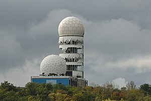 Teufelsberg - Some of the radomes of the former NSA listening station on the top of Teufelsberg